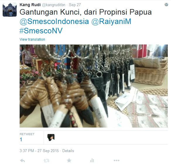 Gantungan Kunci dari Papua Sumber : @kangruditbn