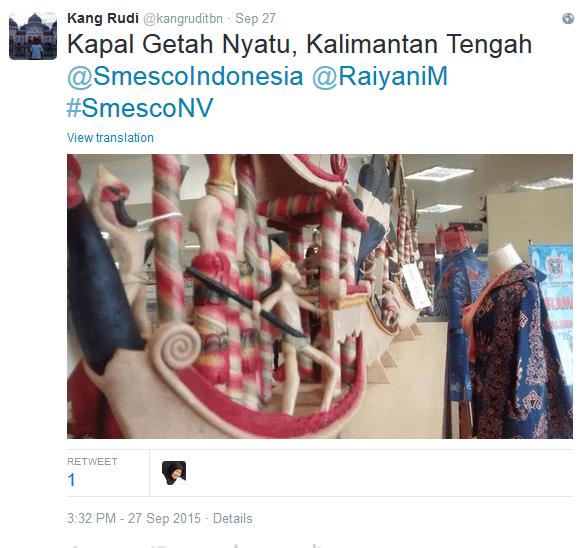 Kapal Getah Nyatu dari Kalimantan Tengah Sumber : @kangruditbn